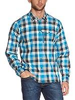 Salewa Camisa Hombre Therma Pl M L/S Srt (Turquesa / Blanco / Antracita)