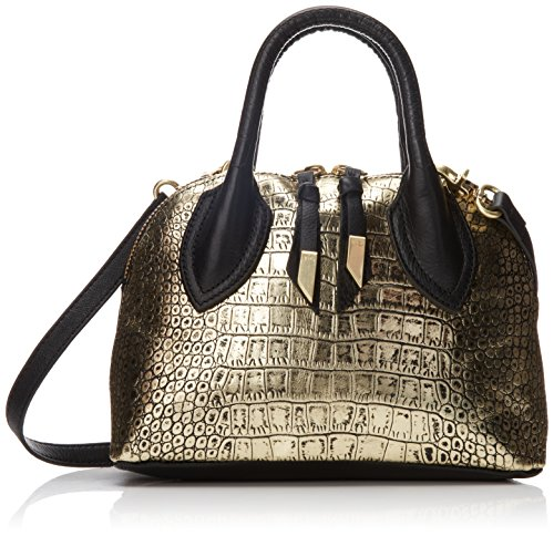 Foley + Corinna Cassis Mini Satchel,Gold Crocodile,One Size