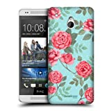 Head Case Flowers In Blue Nostalgic Rose Pattern Hard Back Case For Htc One Mini