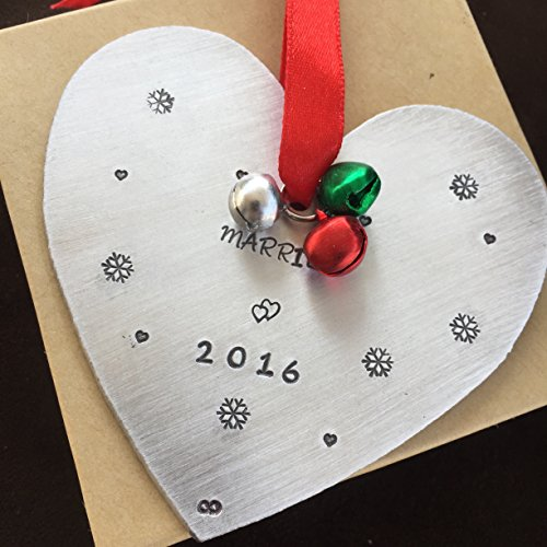 Married Christmas Ornament Heart Shaped Christmas Tree Decoration Just Married Gift Wedding Gift For Just Wedding For Marriage