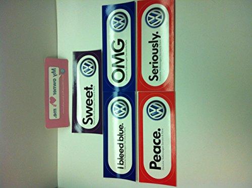 Set Of Limited Edition Genuine Volkswagen Stickers