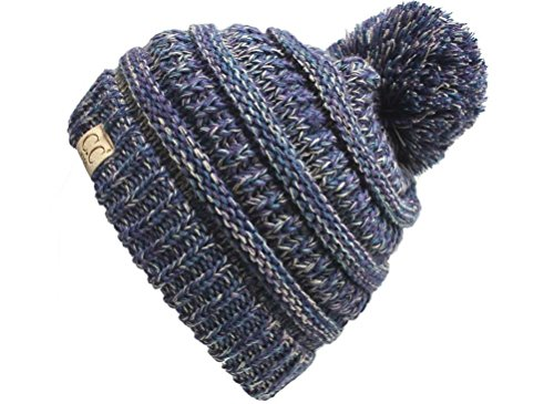 H-6847-816k.40 Childrens 4 Tone Pom Beanie - Purple (#2)
