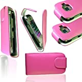 NEW STYLISH PINK FLIP CASE COVER FOR NOKIA C2-02