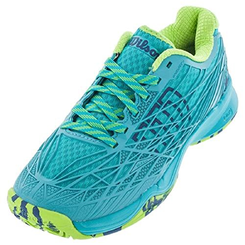WILSON Women`s KAOS Tennis Shoe, TealBlue/TealBlueGranny Green