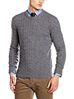 Hackett London Jersey Lana Cable Crew Neck (Gris)
