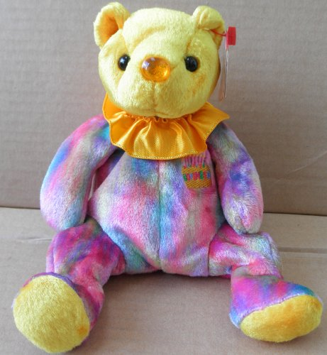 1 X TY Beanie Babies Topaz November Birthday Bear Plush Toy Stuffed Animal