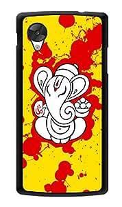 """Humor Gang Ganesha Splatter Art Printed Designer Mobile Back Cover For """"Lg Google Nexus 5"""" (3D, Glossy, Premium Quality Snap On Case)"""