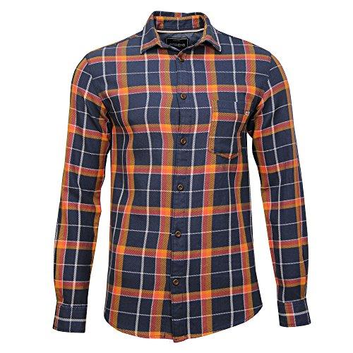 JACK & JONES -  Camicia Casual  - A quadri - Classico  - Maniche lunghe  - Uomo Mood Indigo(14-0170al) X-Large