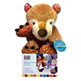 Eric Carle Bear Backpack, Childrens Safety Harness, Plush and Machine Washable, Polyester, Brown