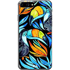 DailyObjects Blue Toucans Clear Case For iPhone 7 Plus