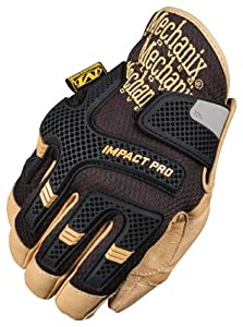 Mechanix Wear CG30-75-012 Commercial Grade Impact Protection Glove, Black, XX-Large
