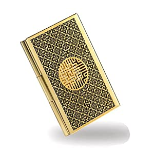 Business card holder gold plated stainless steel credit