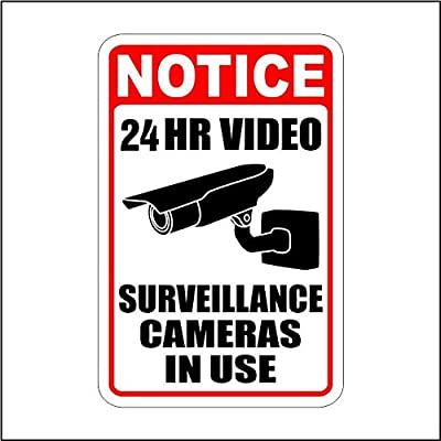 Lg Warning Security Cameras In Use ~ Video Surveillance Sign