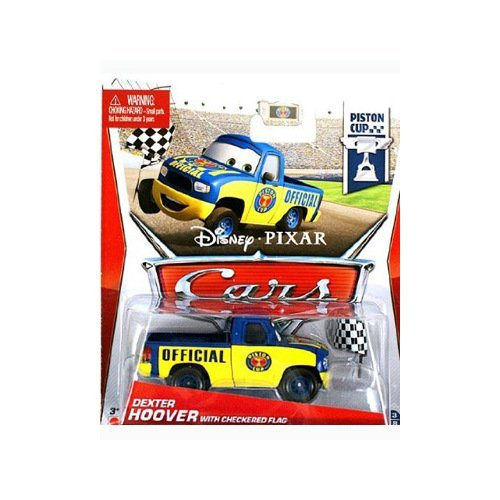 Cars Piston Cup Dexter Hoover w/ Flag Die Cast Vehicle - 1