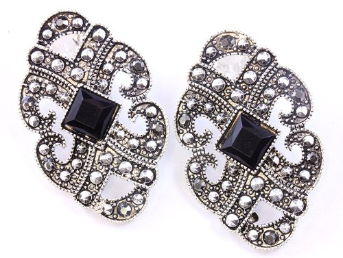 EARRING CLIP METAL BLACK Fashion Jewelry Costume Jewelry fashion accessory Beautiful Charms