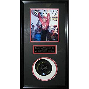Dale Earnhardt Jr. Autographed 6 Mini Tire Shadowbox Frame by PalmBeachAutographs.com