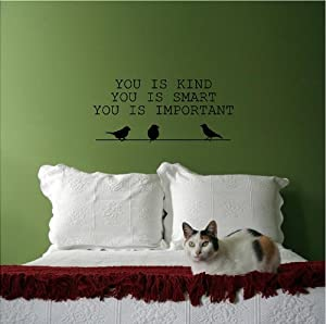 You Is Kind, You Is Smart, You Is Important (M) Wall Saying Vinyl Lettering Home Decor Decal Stickers Quotes