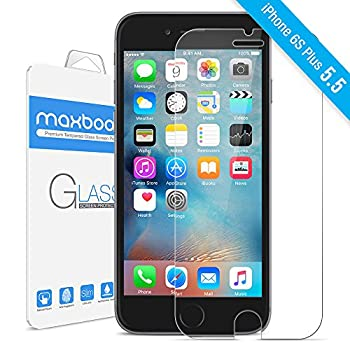 01. Maxboost® [Tempered Glass 3D Touch Compatible] 0.2mm iPhone 6S Plus Glass Screen Protector