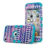 ULAK IPod Touch 6 Case,iPod Touch 5 Case,Hybrid Hard [ Pattern ] With Silicon Case Cover For New IPod Touch 6...