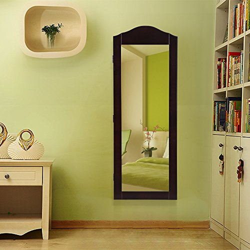 Makeup armoire storage organizer wall mount mirrored for Bedroom wall cabinet with mirror