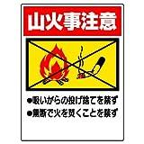 ユニット 禁煙標識 山火事注意 エコユニボード 600×450 [318-05]