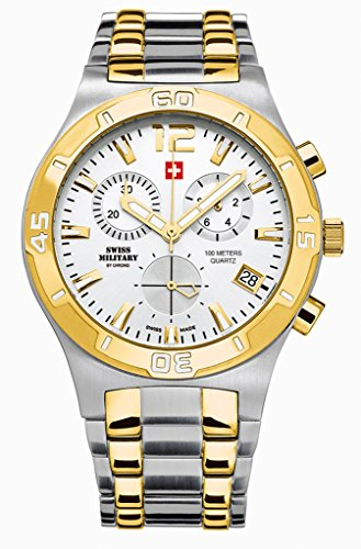 Swiss Military By Chrono Analogue White Dial Men's Watch SM34015.04