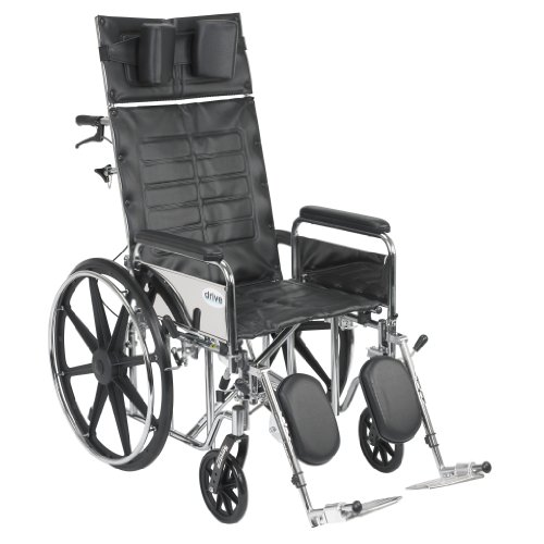 Drive Medical Sentra Reclining Wheelchair With Various Arm