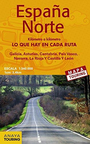 Mapa De Carreteras 1:340.000. Norte De España (Desplegable) (Mapa Touring)