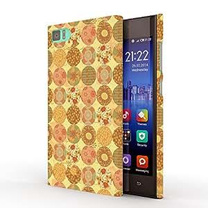 Koveru Designer Protective Back Shell Case Cover for Xiaomi Mi 3 - Yellow Orange Pattern