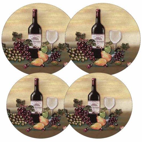 Reston Lloyd Electric Stove Burner Covers, Set of 4, Wine and Vines (Kitchen Grape Wine compare prices)