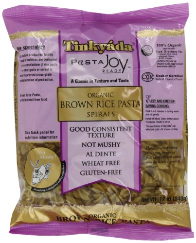 Tinkyada Organic Brown Rice Pasta, Spirals, 12 Ounce (Pack of 12) (Sugar Free Organic Pasta Sauce compare prices)