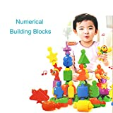 Fajiabao Plastic Bell Building Block Set with Carrying Bag Include Figures Animals and Sign of Operation