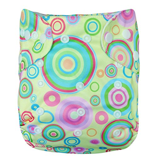Besto Baby One Size Fit All Pocket Cloth Diaper Cover Reusable Washable Fit 6-33 Lbs 0Ya52 front-784330