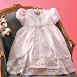 Angels Garment White Dress Size 6-12M Baby Girl Faux Shantung Baptism