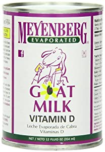Meyenberg Evaporated Goat Milk, 12-Ounce Cans (Pack of 12)