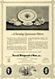 1925 Ad Josiah Wedgwood Queensware Pattern Fine China - Original Print Ad