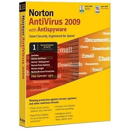 Norton Antivirus 2009 1 user