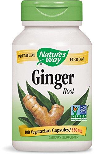 Nature's Way Ginger Root, 550 mg, 100 Capsules