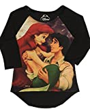Disney Juniors Little Mermaid Ariel Black Raglan T-shirt