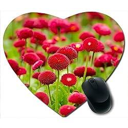 Awwsme Pink Flower Heart Mousepad