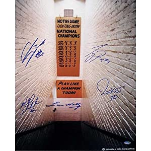 Steiner Sports NCAA Notre Dame Fighting Irish 1988 National Champs 5 Signature Tunnel... by Steiner Sports