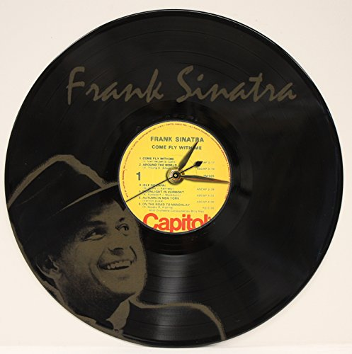Frank Sinatra Laser Etched LP Record Wall Clock FREE SHIPPING