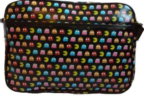 Gossip Girl - Unisex 1980's 80's Style Retro Pac Man Arcade Game Messenger Metro Bag - BLACK