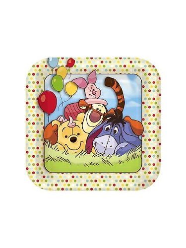 Winnie the Pooh and Pals Small Paper Plates (8ct) - 1
