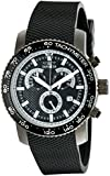 Invicta Men's 11295 Specialty Chronograph Textured Black Polyurethane and Black Dial Watch