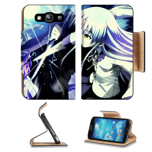 Angel Beats Kanade And Shiina Samsung Galaxy S3 I9300 Flip Cover Case With Card Holder Customized Made To Order Support Ready Premium Deluxe Pu Leather 5 Inch (132Mm) X 2 11/16 Inch (68Mm) X 9/16 Inch (14Mm) Liil S Iii S 3 Professional Cases Accessories O