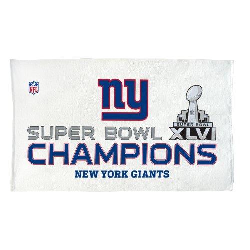 Nfl New York Giants Super Bowl Xlvi Champions Locker Room Towel Picture
