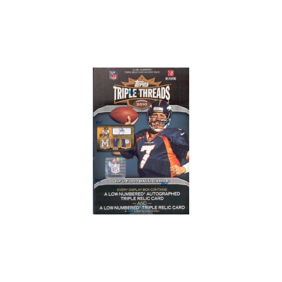 2010 Topps Triple Threads NFL Football Sports Trading Cards Box
