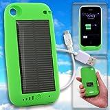 【iPhone3G/3GS専用】ソーラーハイブリッド充電ケース solar charge jacket-i(グリーン)【ギフトショー春2010出品商品】