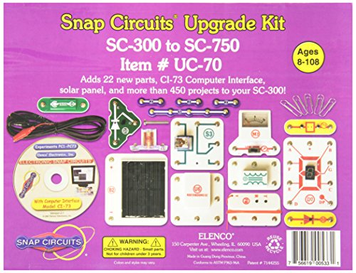 Snap Circuits Uc-70 Upgrade Kit Sc-300 To Sc-750